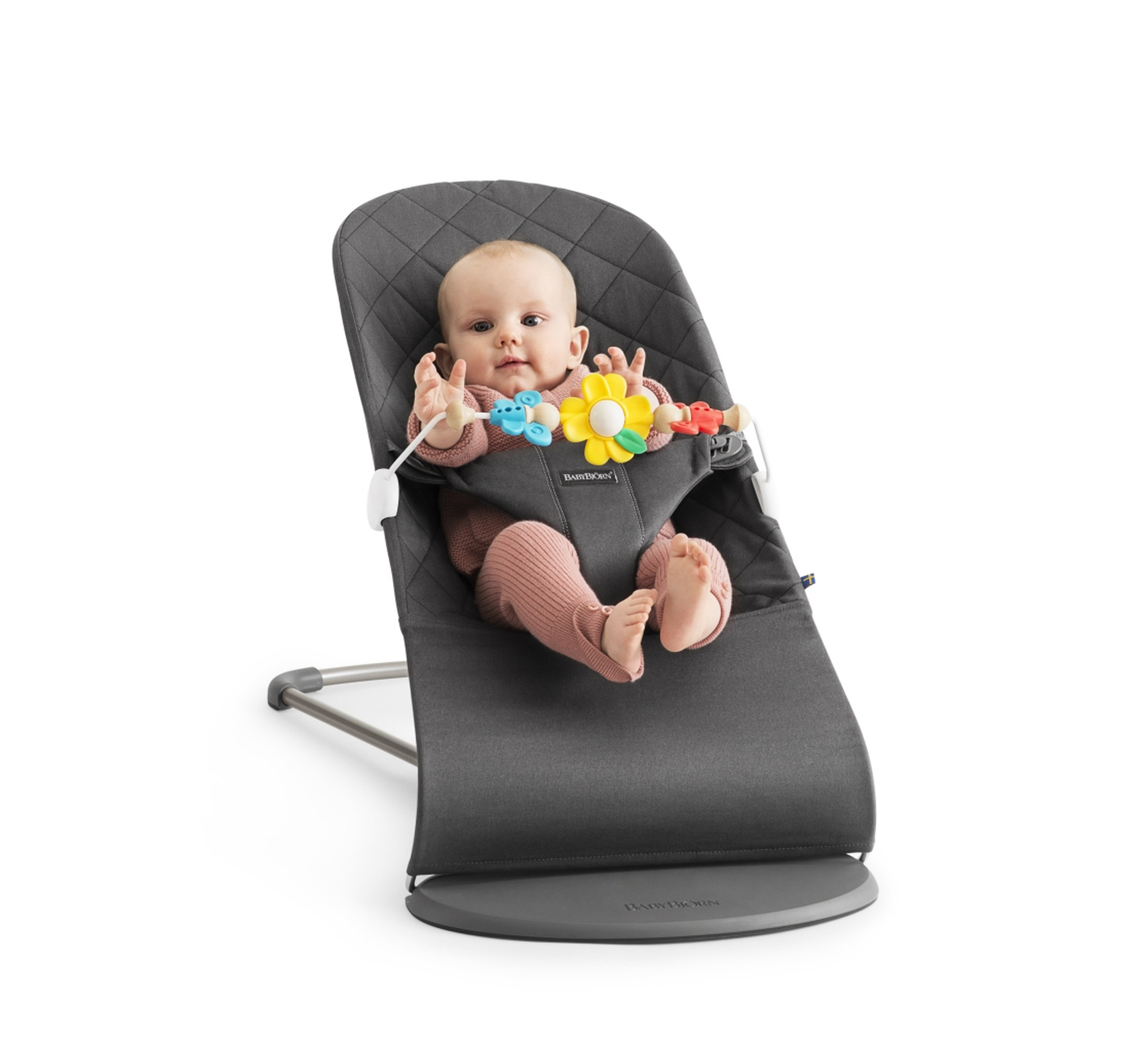 BABYBJÖRN - Bouncer Bliss - Anthracite + Toy. Antracyt   Scandinavian Baby
