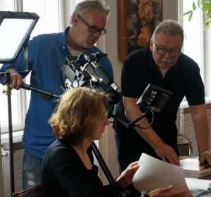 Schukoff and Satke shooting film about book