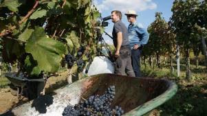 Shooting with winemaker Johannes Kumer