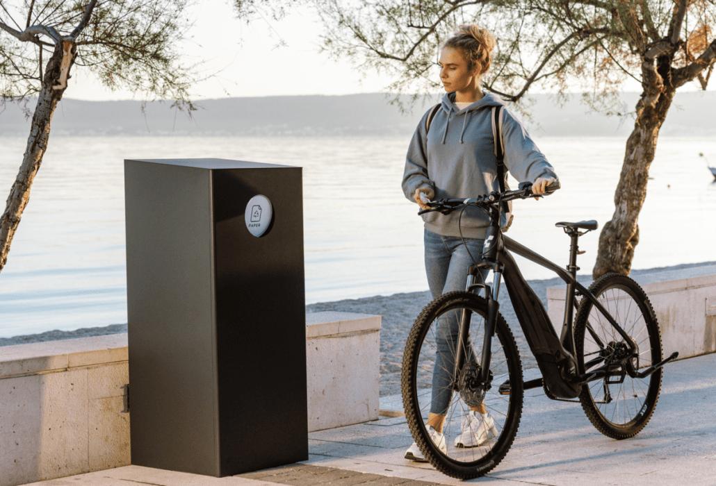 Include smart city solutions, Terra public bin