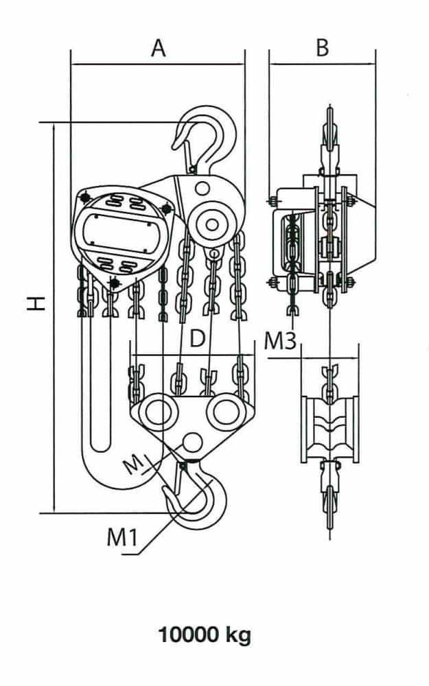 Manual chain hoist HADEF 8/12