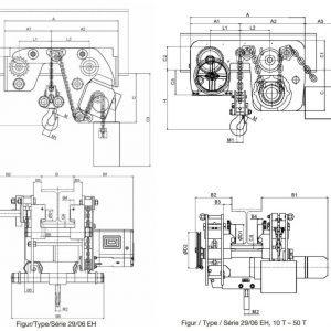Electric chain hoist HADEF 29/06 EH