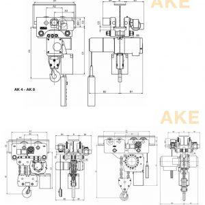 Electric chain hoist HADEF 66/04 AKE
