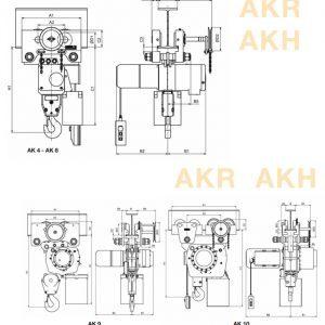 Electric chain hoist HADEF 66/04 AKH