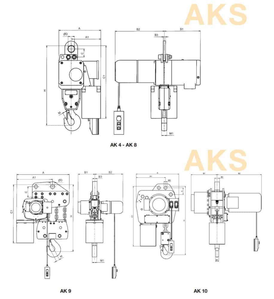 Electric chain hoist HADEF 66/04 AKS