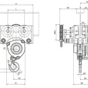 Manual chain hoist HADEF 240/12 HR+HH