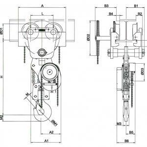 Manual chain hoist HADEF 26/12 HH