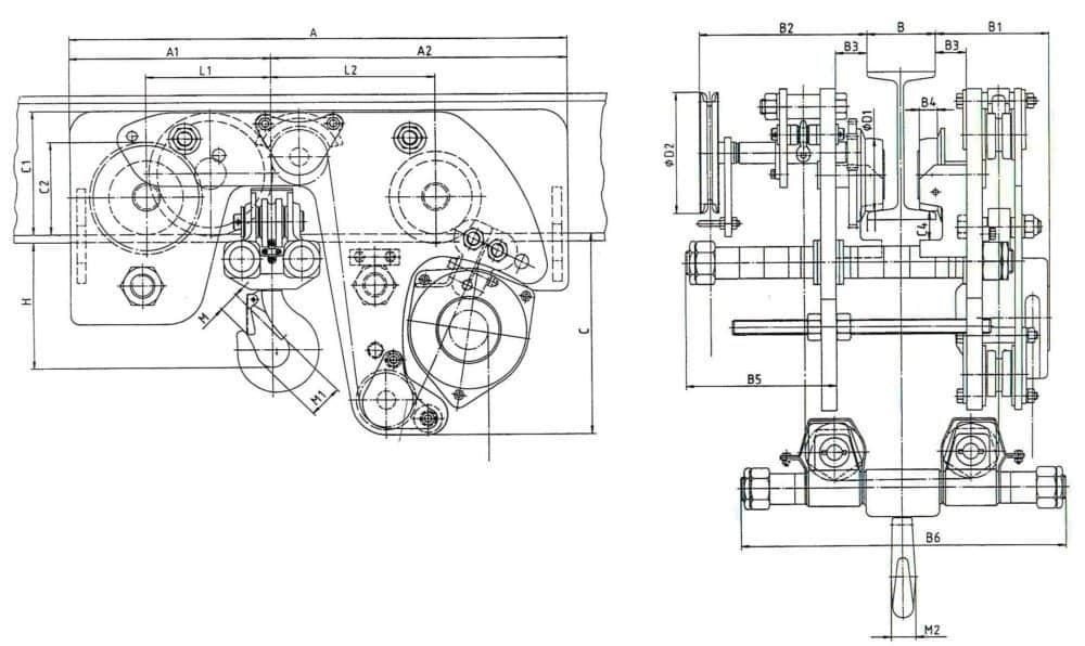 Manual chain hoist HADEF 29/12 HH