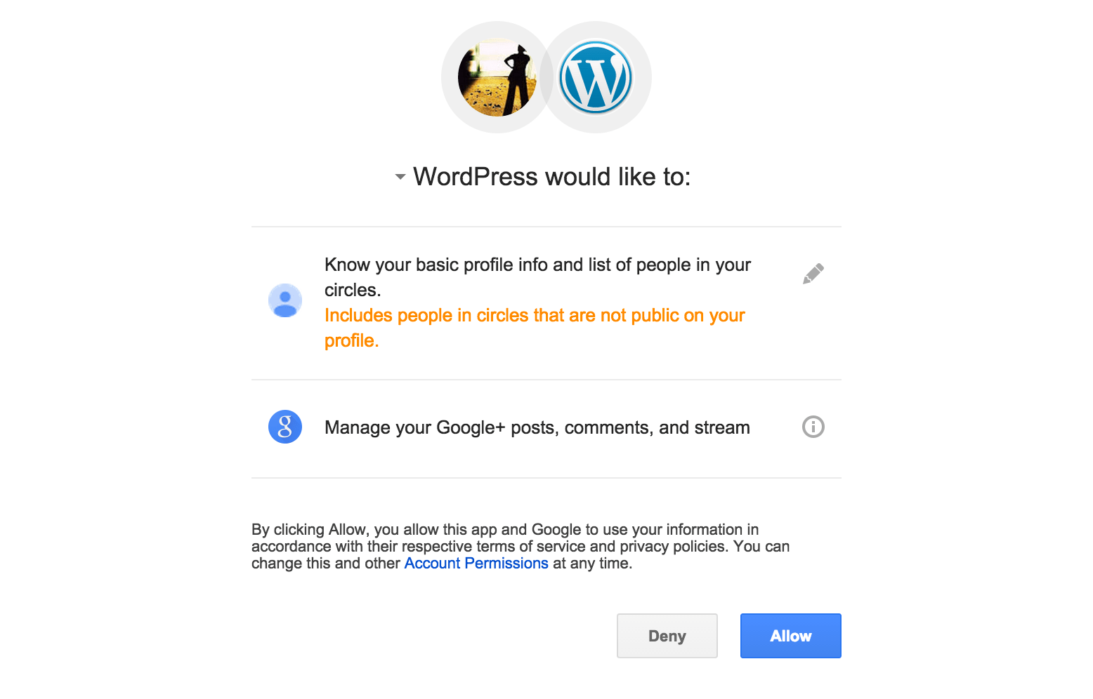 publicize support wordpress com you ll be taken to google where you ll be asked to approve your selected connection between your wordpress com site and your google account click allow