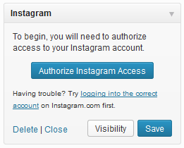 Authorize Instagram Access