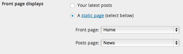 static-front-page