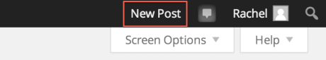 New Post Button