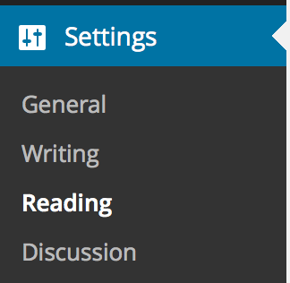 Settings - Reading