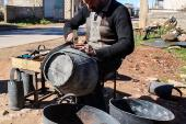 This Syrian man turns worthless tires into recycled rubber baskets