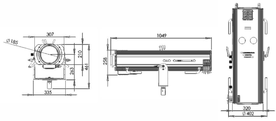 FS800M FOLLOW SPOT