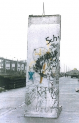 "<h5>Thanks Sabine Kurz</h5><p>The photo was taken in Berlin shortly after the Berlin Wall was dismantled. Currently this segment is stored. © <a href=""http://probst-bautraeger.de/"" target=""_blank"">Kurz</a></p>"
