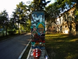 "<h5>The Berlin Wall in Timisoara, Romania</h5><p>Details, Copyright: <a href=""http://en.the-wall-net.org/?p=1162"" >Timisoara, RO</a> / more <a href=""http://en.the-wall-net.org/category/the-berlin-wall/eur/"" >sites in Europe</a></p>"
