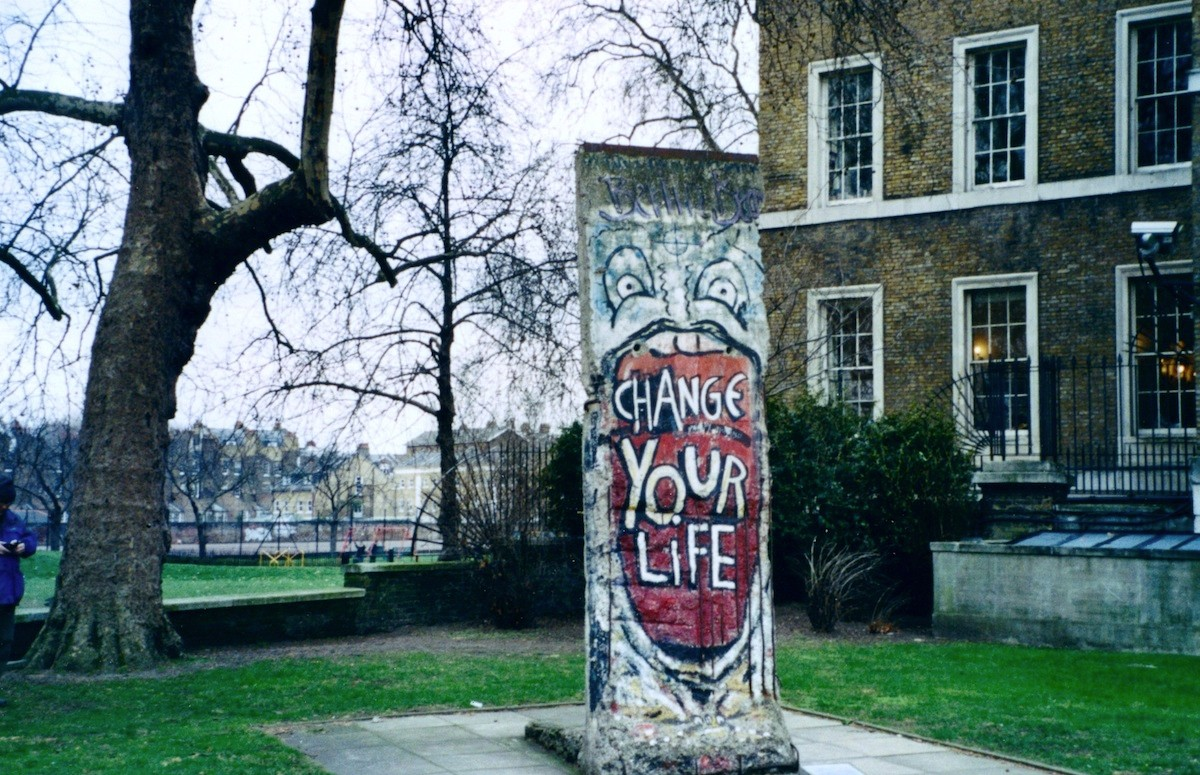 The Berlin Wall in London, GB