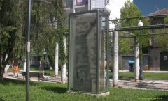 Berlin Wall in Redondela, Spain