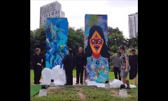 Berlin Wall in Bangkok, Thailand