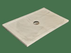 White Ibiza marble shower tray model Uranus