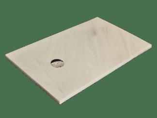 White Macael marble shower tray model Venus