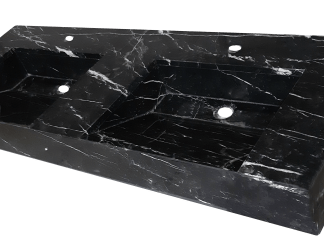 Black Marquina marble bathroom countertop model EN140