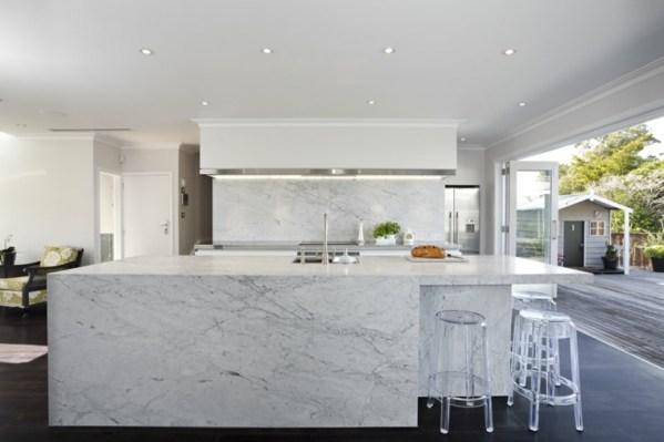 kitchen countertop marble white carrara