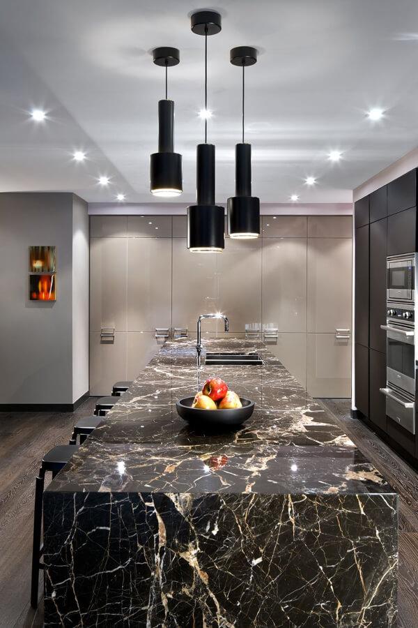 kitchen countertop marble black saint laurent