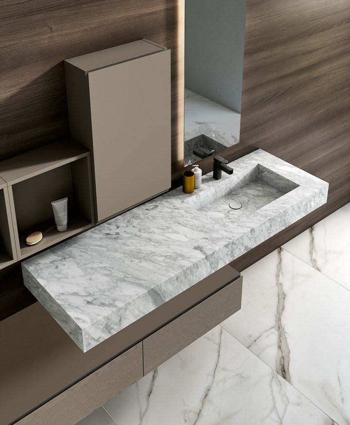 CALACATTA VENATO WHITE MARBLE BATHROOM COUNTERTOP