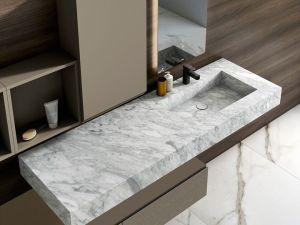 CALACATTA VENATO WHITE MARBLE BATHROOM COUNTERTOP