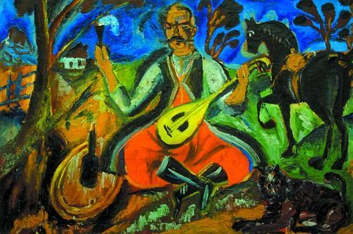 Давид Бурлюк - Козак Мамай, 1912