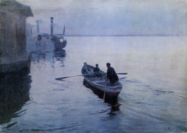 Mykola Pymonenko. On the Dnieper. 1906. Oil on canvas. 52,5x72 cm.