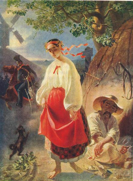 Taras Shevchenko - Kateryna. Oil, 93 × 72,3. 1842.