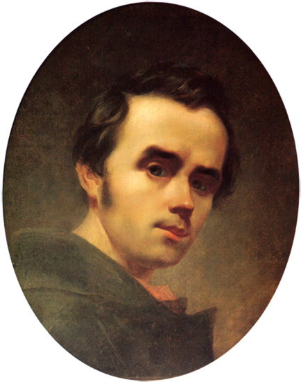 Taras Shevchenko - Self-Portrait. Oil. 1840.