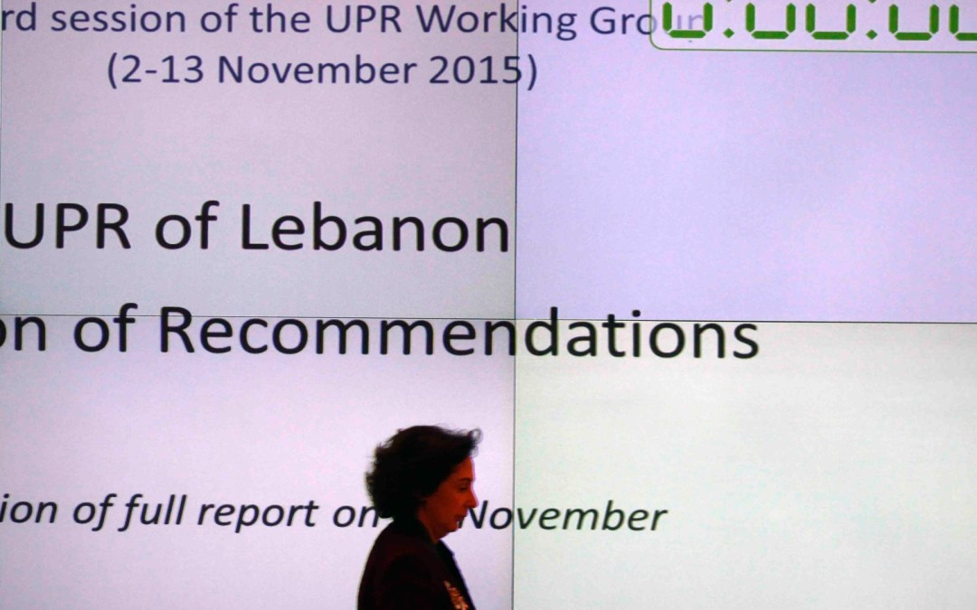 Assisting Lebanon in submitting its report before the third cycle of the Universal Periodic Review