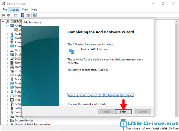 Download Aurora AU451 USB Driver - driver finish
