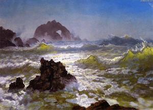 Seal Rocks, Pacific Ocean, California, 1872 by Albert ...