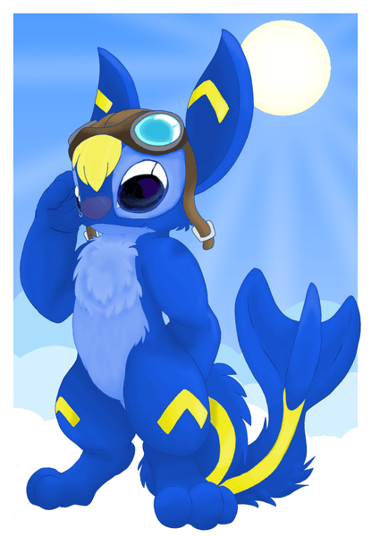 blue cartoon characters