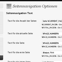 WP-PageNavi Adminarea German