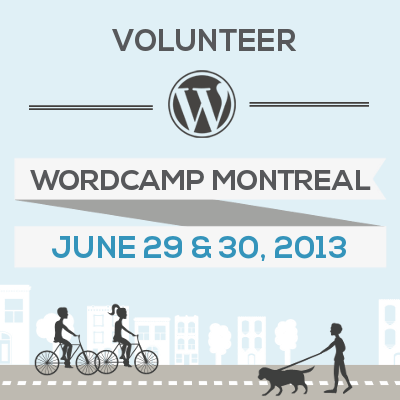 Volunteer at WordCamp Montreal