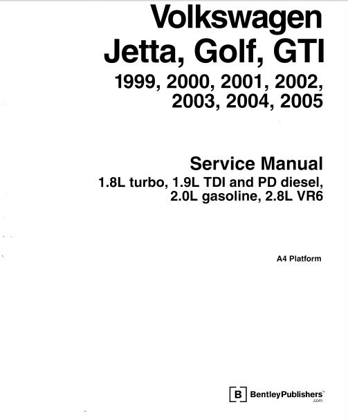 Download Volkswagen Golf 99-05 service repair manual
