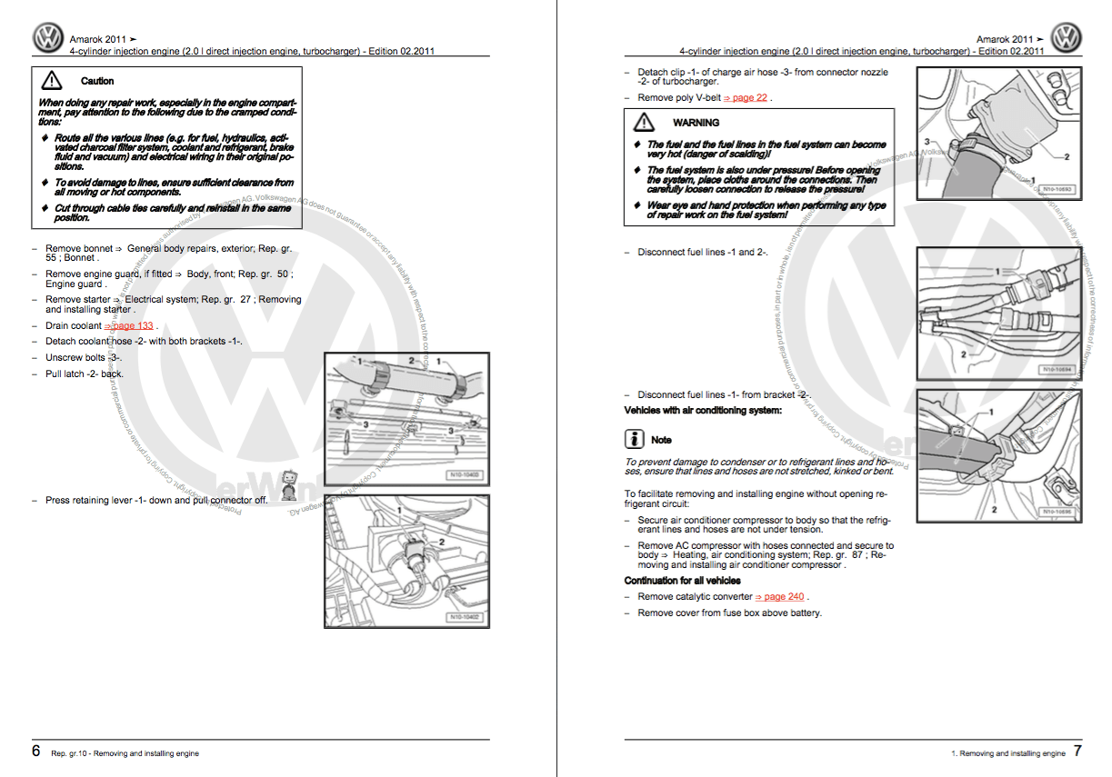 Download Volkswagen Amarok service and repair manual