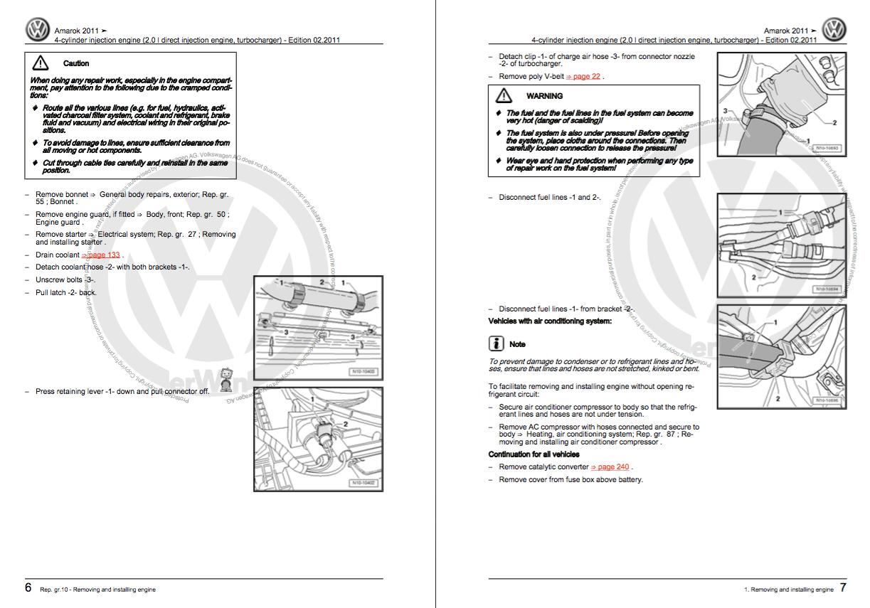 wiring diagram de taller volkswagen amarok
