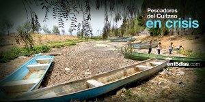 pescadores del Lago de Cuitzeo