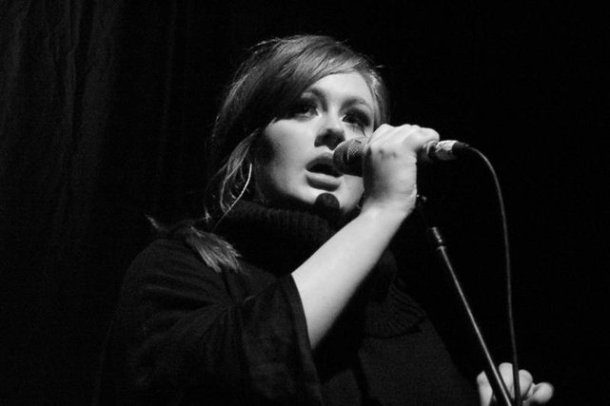 A younger Adele performing in Chicago. Photo courtesy of flikr/ChristopherMacsurak