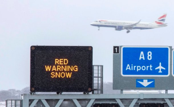 red weather warning