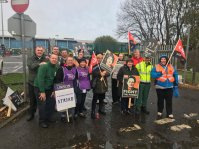 Special Needs Drivers striking in solidarity