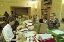 The Scotsman newsroom in 1991