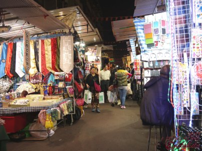 View of the street stalls